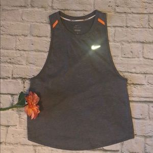 NWT Nike Running Dri-fit Medium Gray/orange tank
